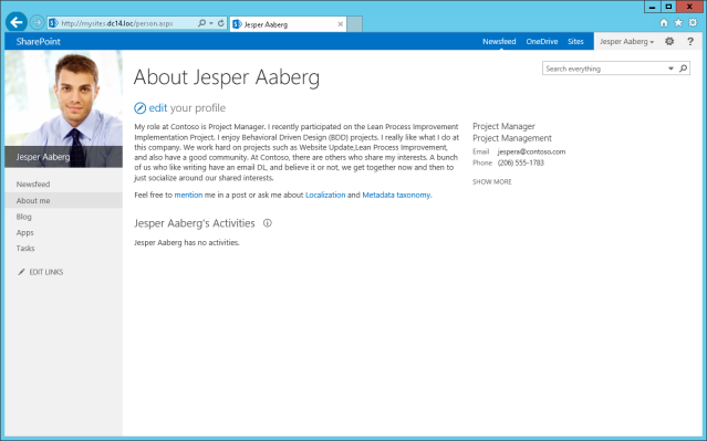 MySites for Aaberg Jesper