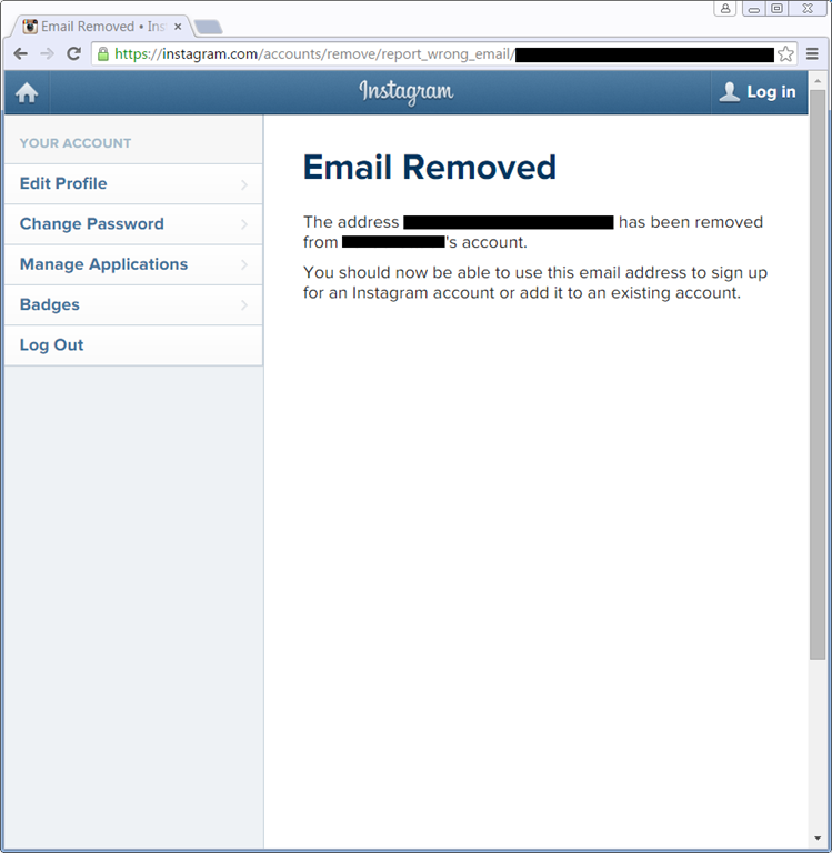 Instagram Spam from Dummy Account with My Email Address | Software Craft