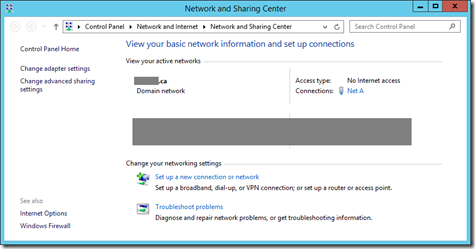 1 VM Network and Sharing Center