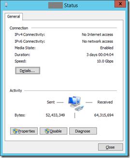 3 VM Net X Status