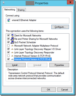 5 VM Net X Properties - IPv4
