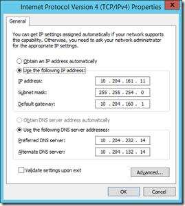 6 VM Net X Properties - IPv4 - Properties