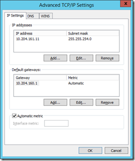 7 VM Net X Properties - IPv4 - Properties - Advanced